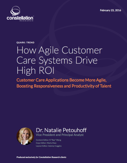 New Report: The ROI Of Agile Customer Care: Reduce Training and Easy To Add Channels