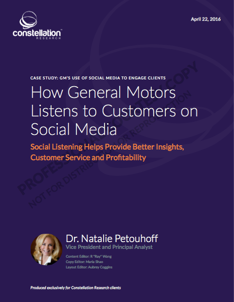 How GM Uses Social Media to Listen and Engage Customers