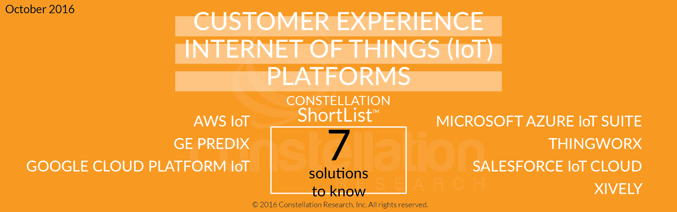 Constellation ShortList™ for Customer Experience (CX): IOT Platforms