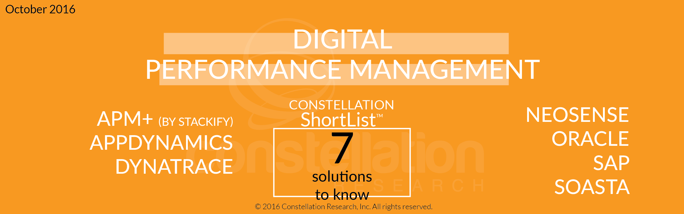 Constellation ShortList™ for Digital Performance Management