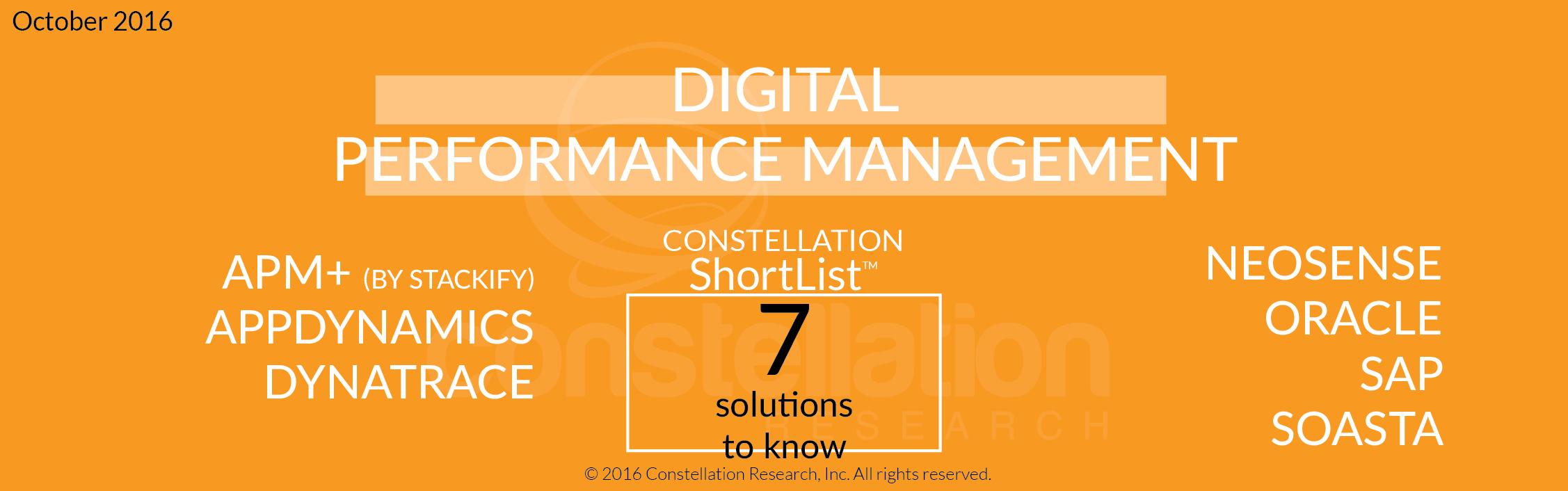 Constellation ShortList™ for Digital Performance Management