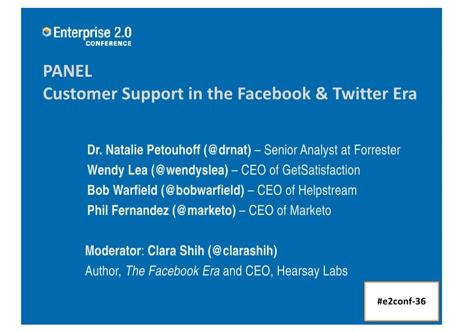 Customer Support in the Facebook & Twitter Era