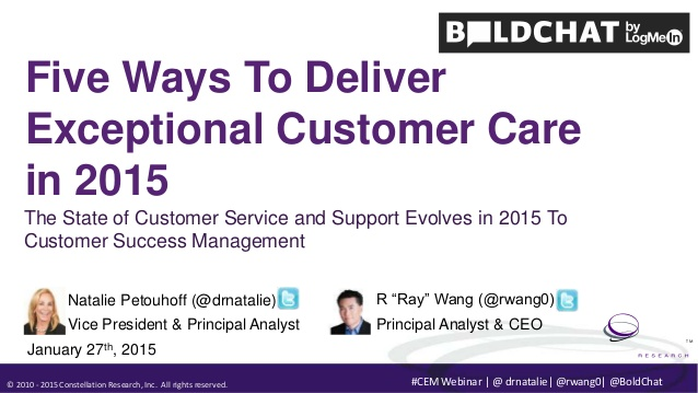 Five Ways To Deliver Exceptional Customer Care in 2015