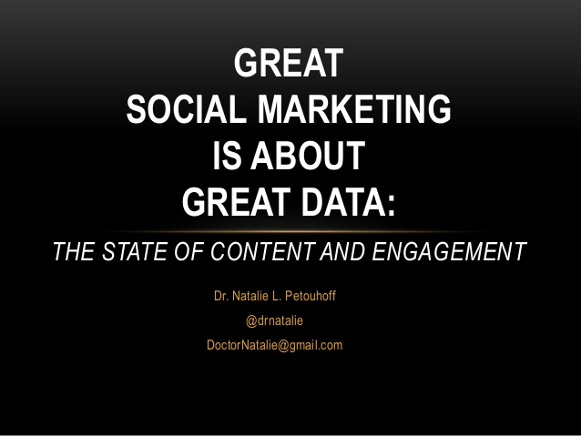 Great marketing is about great data