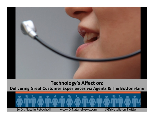 How technology affects agent performance and the bottom line by @dr natalie petouhoff-contact center